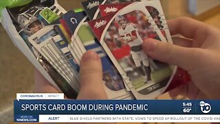 COVID-19 linked to sports trading card boom