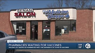 Metro Detroit pharmacy still waiting for vaccines through federal program
