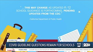 COVID-19 Guidelines for schools could change this fall