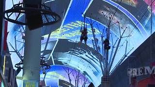 Fremont Street honors the late Aretha Franklin