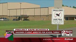 Wagoner student arrested for school threat