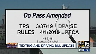 What's the latest with Arizona's texting while driving ban?