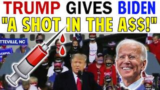 TRUMP GIVES BIDEN A SHOT IN THE A$$!