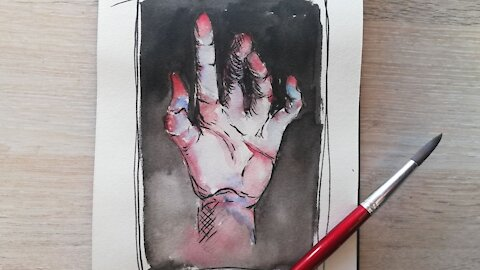 Draw With Me - Watercolour Hand // Episode 61