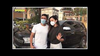 Gauahar Khan & Zaid Darbar Snapped At Their Residence