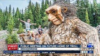 Public meeting on the future of Breckenridge's troll