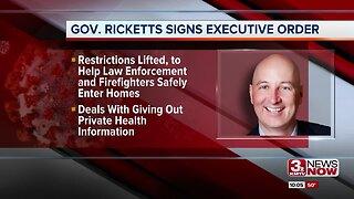 Gov. Ricketts signs executive order