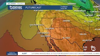 ABC 10News Pinpoint Weather for Mon. June 21, 2021