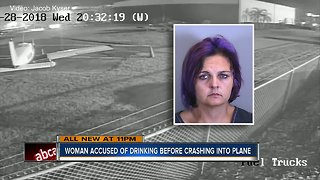 Florida woman charged with DUI after hitting airplane, crashing into fence