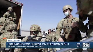 Preparing for unrest on election night