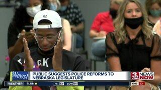 Public suggests police reforms to Nebraska legislature