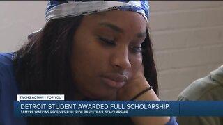 Detroit student awarded full scholarship