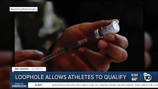 Loophole allows athletes to qualify for vaccine