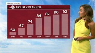 Big change coming: Denver hourly forecast for Monday