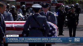 Funeral held for Commander Greg Carnicle