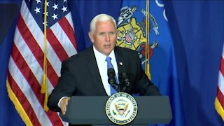 Vice President Mike Pence in Janesville Monday
