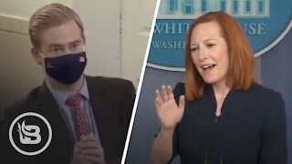 Fox News' Peter Doocy Blows Internet Up With Questioning of Jen Psaki