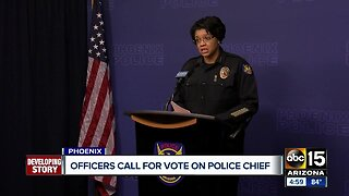 Officers call for vote on Phoenix Police Chief Jeri Williams