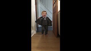 Baby Boy Shows Off His Brand New Suit