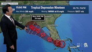 Tropical Depression 19 forms