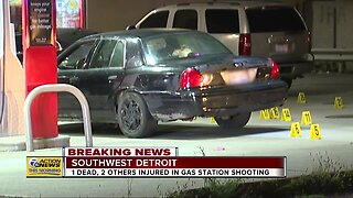 Police: 1 dead in triple shooting at Detroit gas station overnight