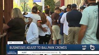 Businesses near Petco Park adjust to crowds