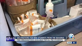 Vaccinations for new students from the Bahamas