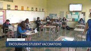 Encouraging school families to get children vaccinated