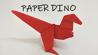 How to Make Origami Paper Dino