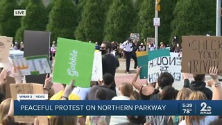Peaceful protests take place along Northern Parkway