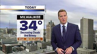 Milwaukee weather Monday: Increasing sunshine and breezy