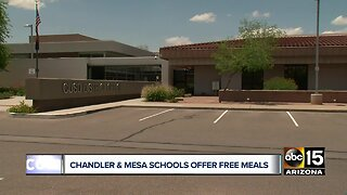 Chandler and Mesa schools offer free meals