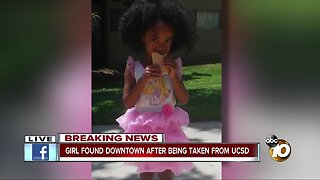 Girl found downtown after being taken from UCSD