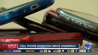 Cell phone donation drive underway