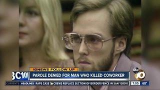 Parole denied for man in Chuck E. Cheese employee killing