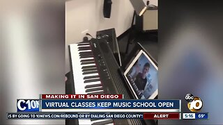 Virtual classes keep music school open