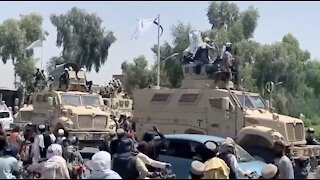 Taliban Throw Military Parade with U.S. Equipment