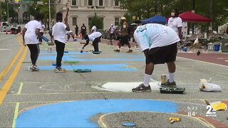 Black Lives Matter mural painted in downtown Baltimore Friday