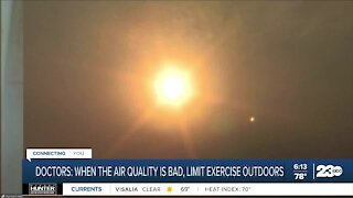 Doctors: When air quality is bad, limit exercise outdoors