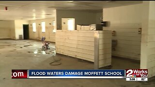 Moffett working to reopen its school after record flood damage