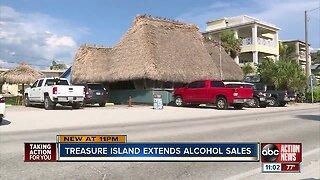 Treasure Island extends alcohol sales