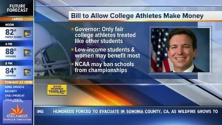 Gov. DeSantis supports paying college athletes for use of name