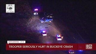 DPS trooper seriously injured in crash on SR-85 in Buckeye