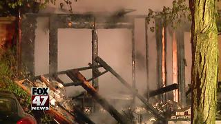 Fire that destroyed Delhi Twp. home was set intentionally, authorities say