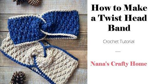 How to Make a Crochet Twist Headband Tutorial
