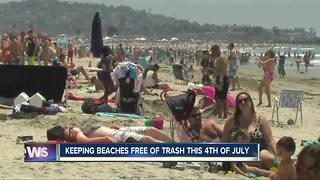 Keeping beaches free of trash