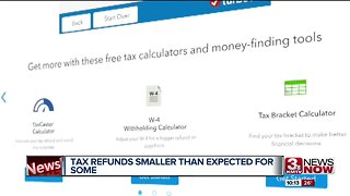 Tax Refunds smaller than expected