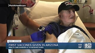 First COVID-19 vaccines given in Arizona