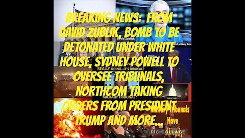 BREAKING: Bomb to go off under WhiteHouse, Sydney Powell, Jr Chiefs, President Trump
