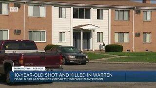 10-year-old dies after being shot inside Warren apartment